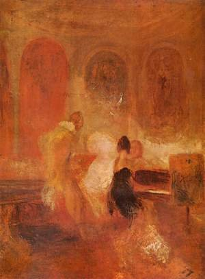 Reproduction oil paintings - Turner - Music company, Petworth