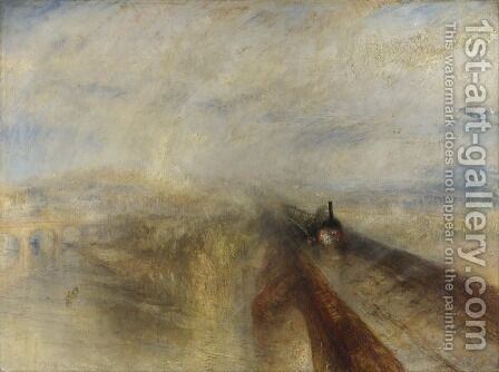 Rain Steam and Speed the Great Western Railway by Turner - Reproduction Oil Painting