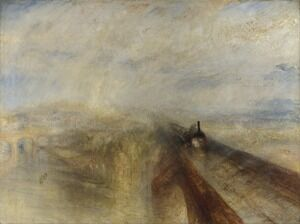 Famous paintings of Clouds & Skyscapes: Rain Steam and Speed the Great Western Railway