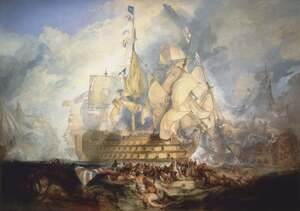 Famous paintings of Ships & Boats: The Battle of Trafalgar 1