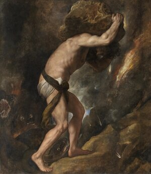 Famous paintings of Portraits: Sisyphus
