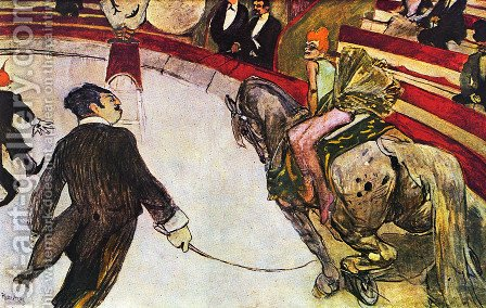 Equestrienne (at the cirque fernando) by Toulouse-Lautrec - Reproduction Oil Painting