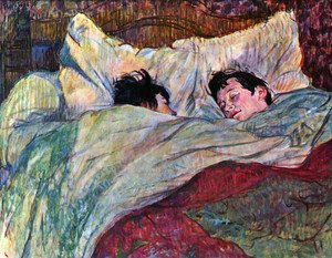 Reproduction oil paintings - Toulouse-Lautrec - In Bed 2