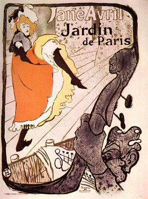 Reproduction oil paintings - Toulouse-Lautrec - Jane Avril, Jardin de Paris