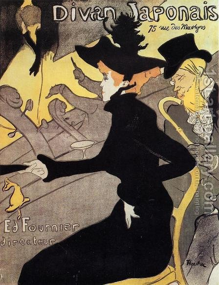 Japanese divan by Toulouse-Lautrec - Reproduction Oil Painting