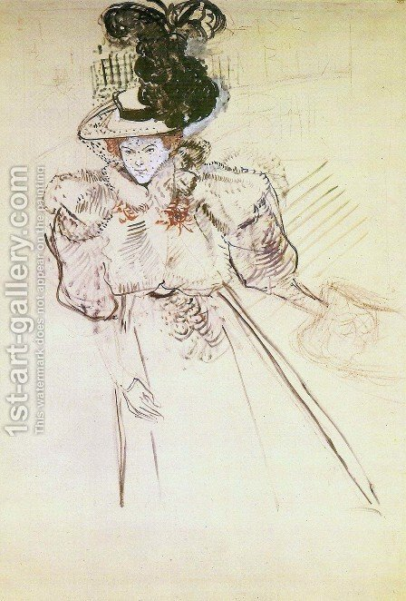 Misia Natanson by Toulouse-Lautrec - Reproduction Oil Painting