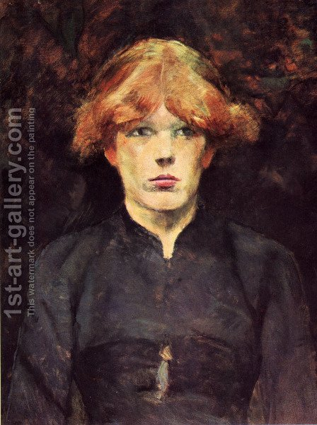 Portrait of Carmen by Toulouse-Lautrec - Reproduction Oil Painting