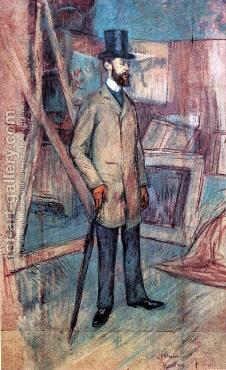 Portrait of Georges-Henri Manuel 2 by Toulouse-Lautrec - Reproduction Oil Painting