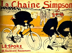 Famous paintings of Bicycling: The chain Simpson
