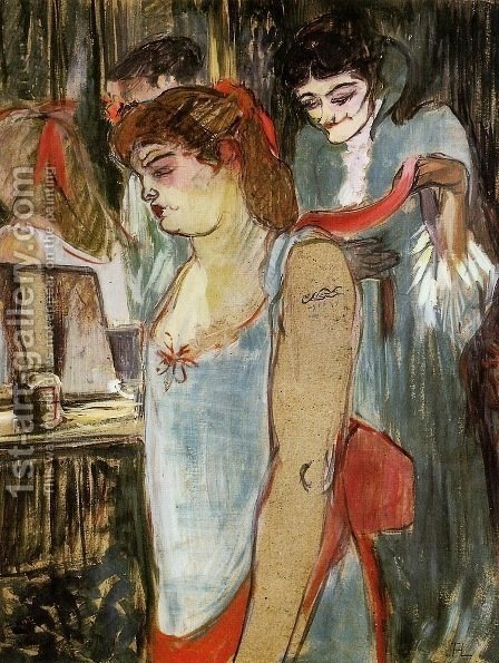 The Tatooed Woman by Toulouse-Lautrec - Reproduction Oil Painting