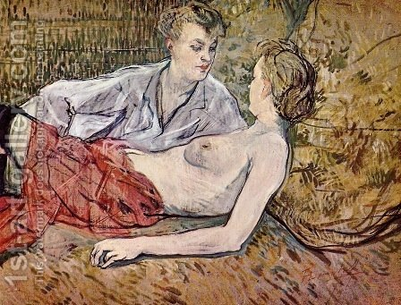 Two Friends 2 by Toulouse-Lautrec - Reproduction Oil Painting