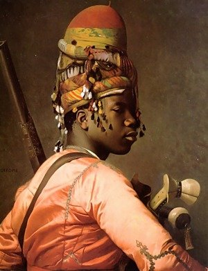 Reproduction oil paintings - Jean-Léon Gérôme - Black Bashi-Bazouk 2