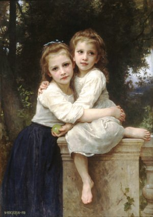 Famous paintings of Portraits: Deux Soeurs [Two Sisters]