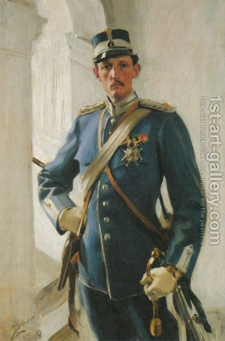 Prins Carl by Anders Zorn - Reproduction Oil Painting