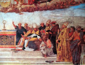 Reproduction oil paintings - Raphael - Disputation of the Holy Sacrament (Detail) 7