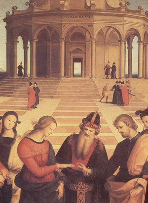 Reproduction oil paintings - Raphael - Spozalizio (detail) 3