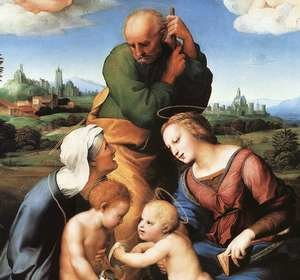 Reproduction oil paintings - Raphael - The Canigiani Madonna (detail) 1