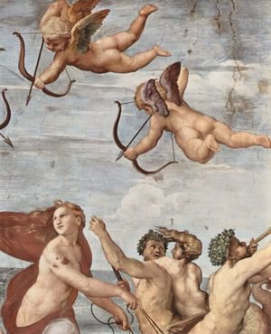 Reproduction oil paintings - Raphael - The Triumph of Galatea (detail 1)