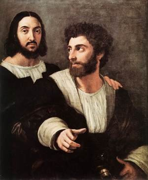 Reproduction oil paintings - Raphael - Double Portrait 2
