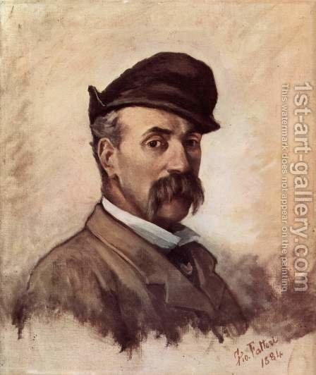 Self-portrait with fifty years by Giovanni Fattori - Reproduction Oil Painting