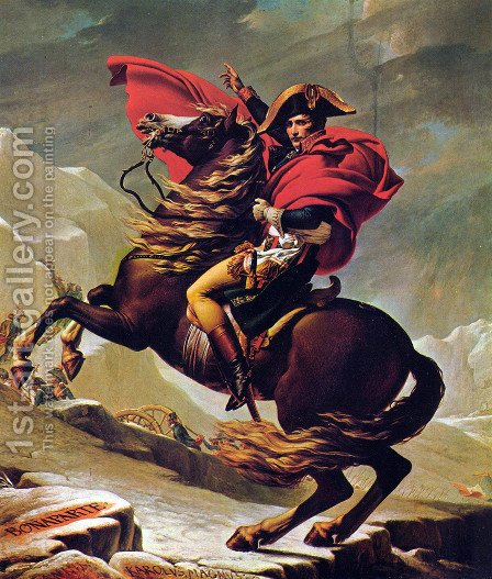 Jacques Louis David: Napoleon Crossing the Alps 2 - reproduction oil painting