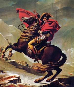 Famous paintings of Clouds & Skyscapes: Napoleon Crossing the Alps 2