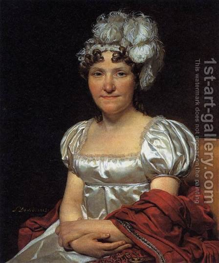 Jacques Louis David: Portrait of Marguerite-Charlotte David - reproduction oil painting