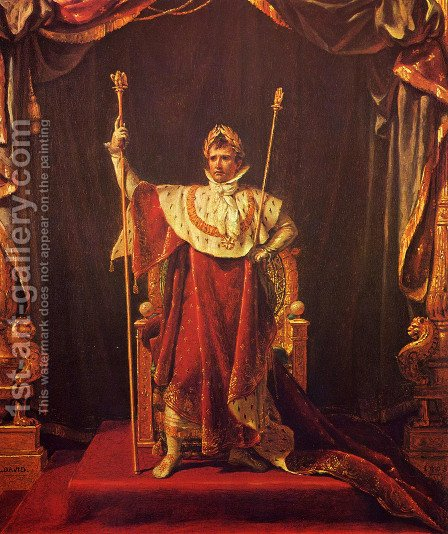 Jacques Louis David: Portrait of Napoleon in imperial garb - reproduction oil painting