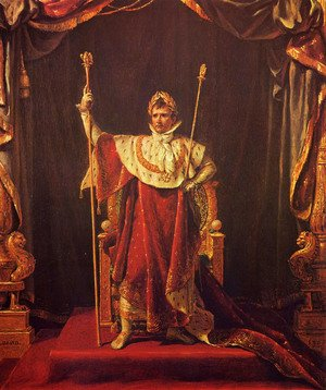 Reproduction oil paintings - Jacques Louis David - Portrait of Napoleon in imperial garb