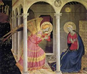 Reproduction oil paintings - Giotto Di Bondone - Annunciation 2