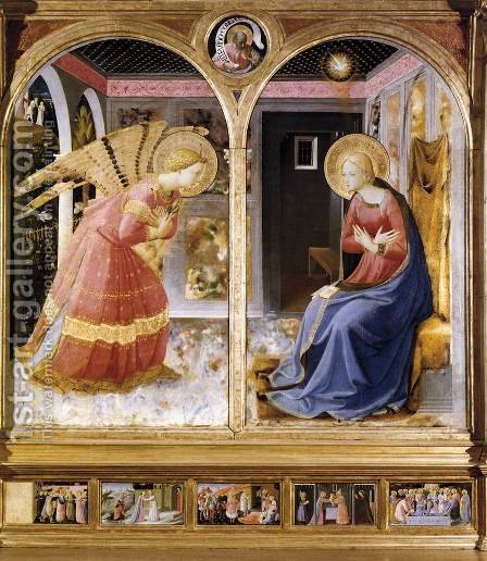 Annunciation 5 by Giotto Di Bondone - Reproduction Oil Painting