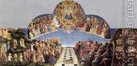 Giotto Di Bondone: Last Judgement - reproduction oil painting