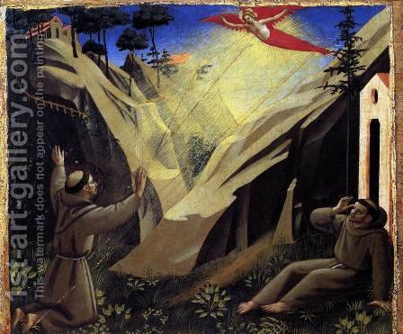Giotto Di Bondone: St Francis Receiving the Stigmata - reproduction oil painting