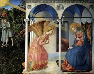 Reproduction oil paintings - Giotto Di Bondone - The Annunciation 2
