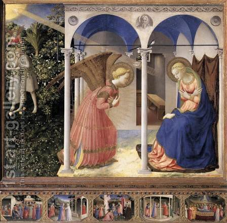 The Annunciation by Giotto Di Bondone - Reproduction Oil Painting