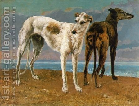 Count de Choiseul's Greyhounds by Gustave Courbet - Reproduction Oil Painting