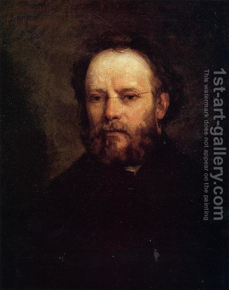 Portrait of Pierre-Joseph Proudhon by Gustave Courbet - Reproduction Oil Painting