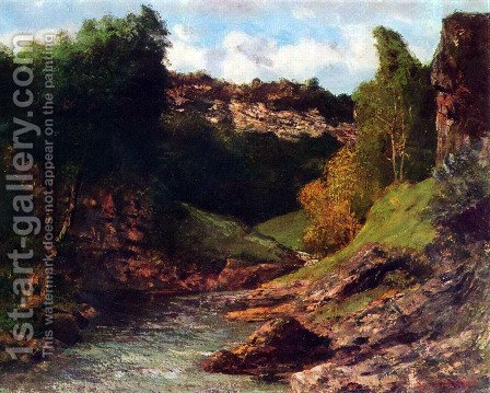 Rocky Landscape by Gustave Courbet - Reproduction Oil Painting