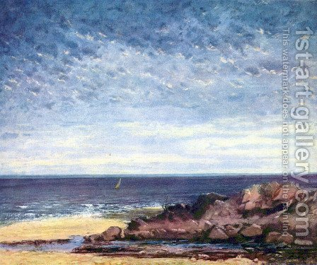 Sea coast in Normandy by Gustave Courbet - Reproduction Oil Painting