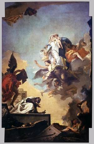 Reproduction oil paintings - Giovanni Battista Tiepolo - Apparition of the Virgin to St Simon Stock