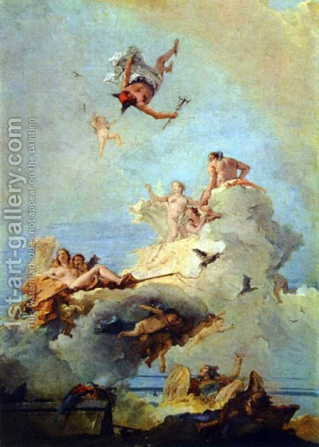 Olymp by Giovanni Battista Tiepolo - Reproduction Oil Painting