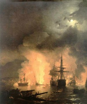 Reproduction oil paintings - Ivan Konstantinovich Aivazovsky - Battle of Chesma