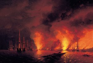 Reproduction oil paintings - Ivan Konstantinovich Aivazovsky - Battle of Sinope
