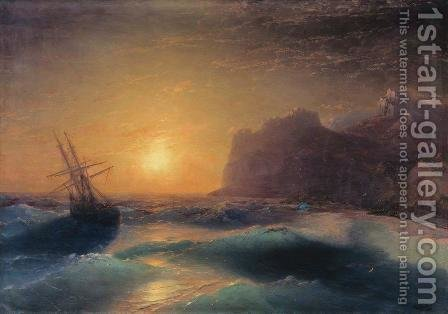 Sea landscape. Koktebel by Ivan Konstantinovich Aivazovsky - Reproduction Oil Painting