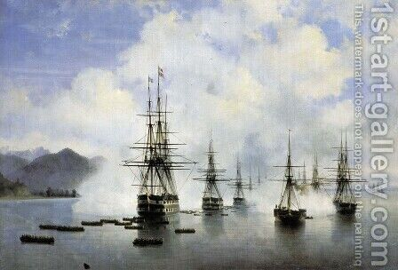 The Landing at Subashi by Ivan Konstantinovich Aivazovsky - Reproduction Oil Painting