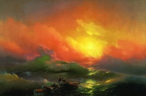 Famous paintings of Ocean Scenes: The Ninth Wave (1850)