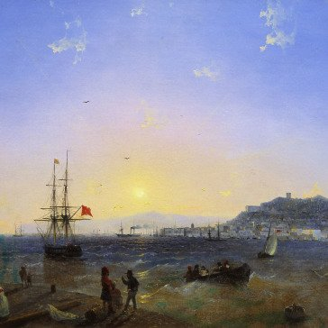 Oil painting reproductions - Landscapes - Ivan Konstantinovich Aivazovsky: View of Kerch (1839)