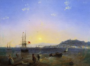 Reproduction oil paintings - Ivan Konstantinovich Aivazovsky - View of Kerch (1839)