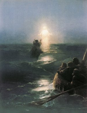 Reproduction oil paintings - Ivan Konstantinovich Aivazovsky - Walking on Water