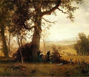 Reproduction oil paintings - Albert Bierstadt - Guerilla Warfare (also known as Picket Duty in Virginia)